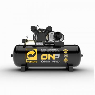 Compressor de Ar Alta Pressão Onix 20 Pés 5HP 200 Litros 220/380V Trifásico