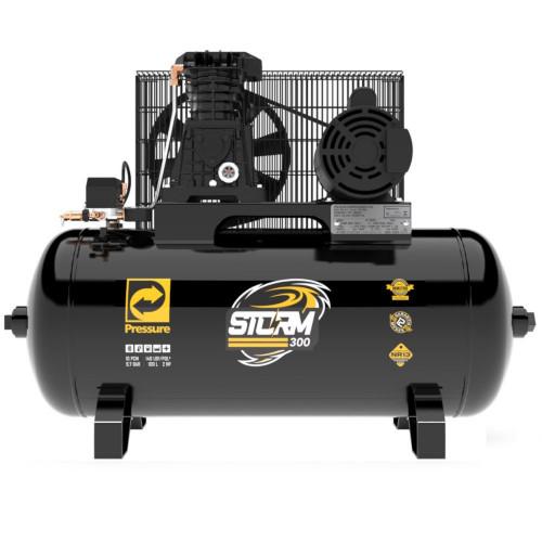 Compressor de Ar 10 Pés 2HP 100 Litros 110/220V Monofásico Storm-300 - PRESSURE-8975703011