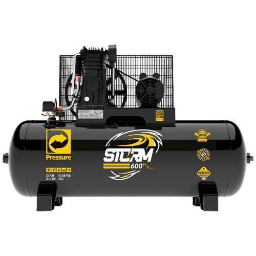 Compressor de Ar Trifásico Alta Pressão Industrial 20 Pés 200 Litros 220/380 V Storm 600HP - PRESSURE-8975703029
