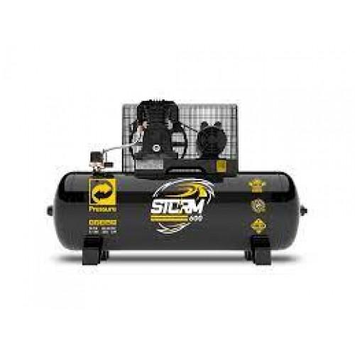 Compressor de Ar Storm 600 Trifásico 20 Pés 200 Litros 220/380 V - PRESSURE-8975703015